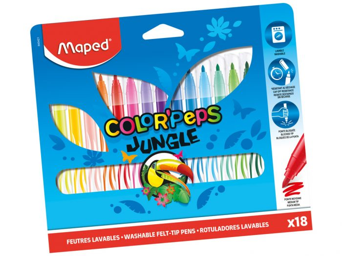 Flomasteris Maped Color'Peps Jungle - 1/2