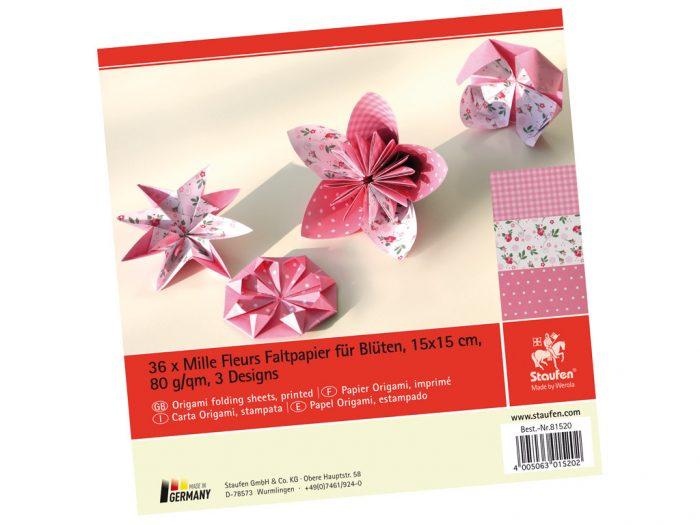 Origami folding sheets Staufen Mille Fleurs 15x15cm