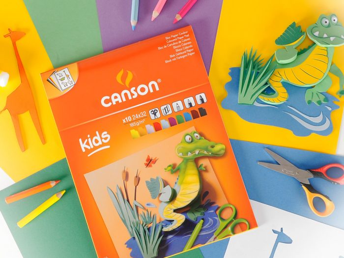 Coloured carton pad Canson Kids