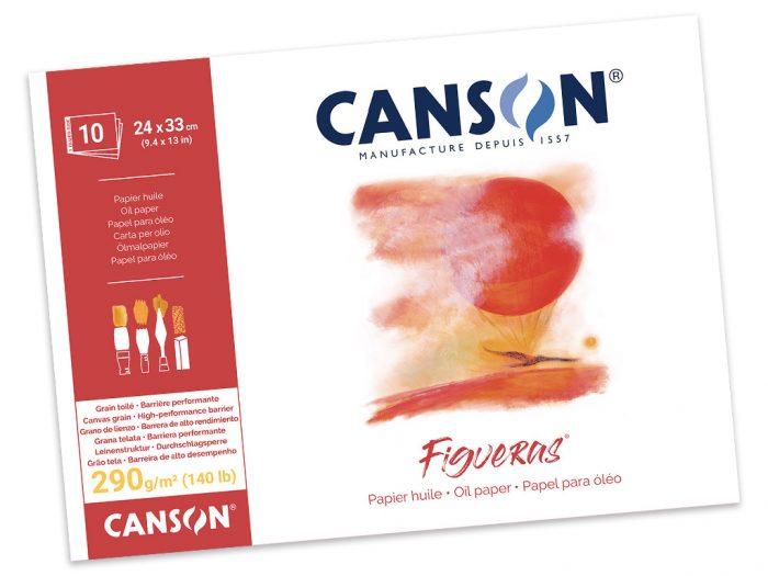 Akrila un eļļas papīra bloks Canson Figueras
