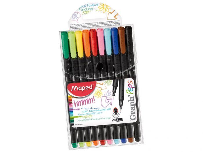 Fineliner set Maped Graph'Peps - 1/3