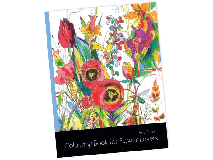 "Krāsojamā grāmata ""Colouring Book for Flower Lovers"" - 1/2"