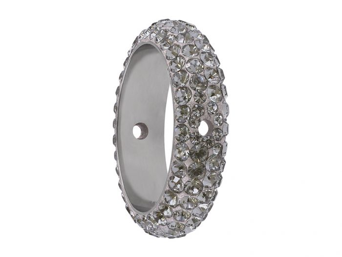Crystal bead Swarovski BeCharmed Pave ring 85001 16.5mm - 1/2
