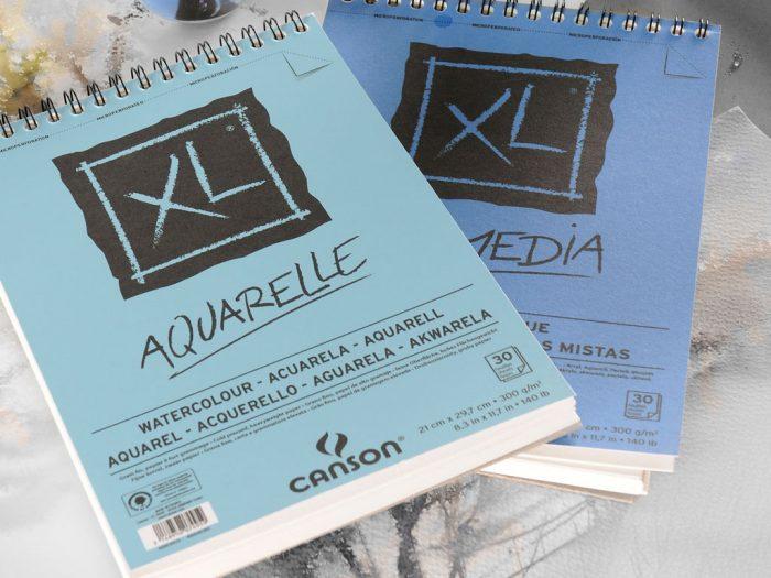 Akvareļbloks Canson XL Aquarelle - 1/2