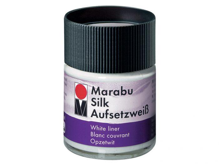 Šilko dažų baltas dengiantis priedas Marabu