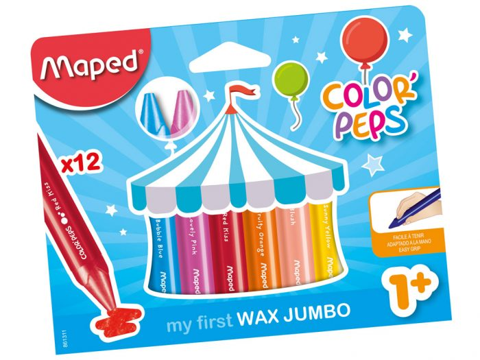 Wax crayons Maped Color'Peps Early Age Jumbo - 1/2