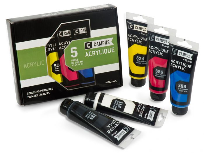 Acrylic colour set Raphael Campus