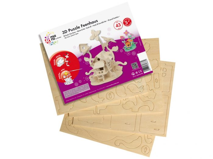 Wooden 3D puzzle Marabu Kids houses - 1/3