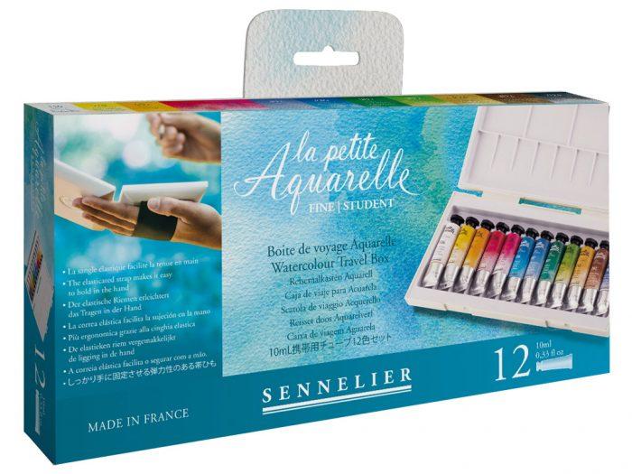 Akvareliniai dažų rinkinys Sennelier La Petite Aquarelle Travel Box - 1/3