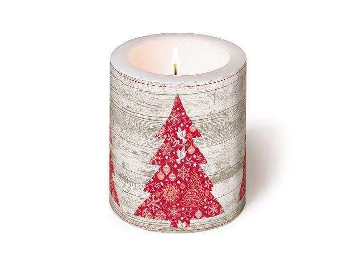 Küünal Paper+Design ümmargune d=9cm h=10cm talv/jõulud