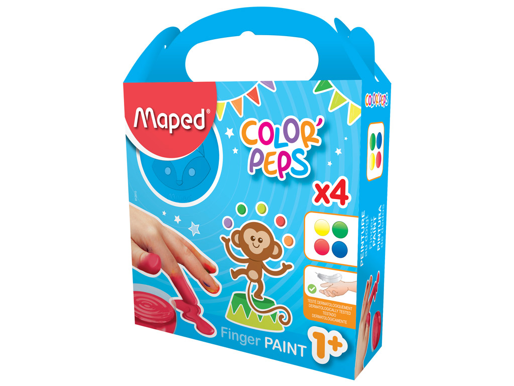 finger paint set maped color peps my first vunder