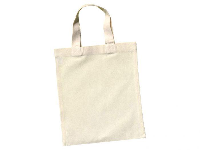 Cotton shopping bag Ideen 24x28cm short handles - 1/6