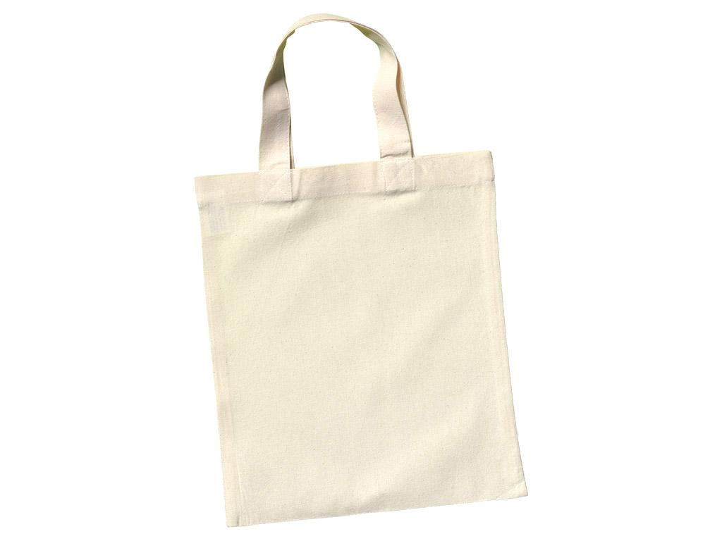 Cotton shopping bag Ideen 24x28cm short handles – Vunder