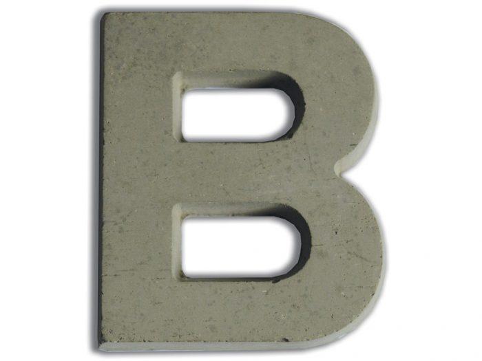 Concrete letter Aladine 7.8cm