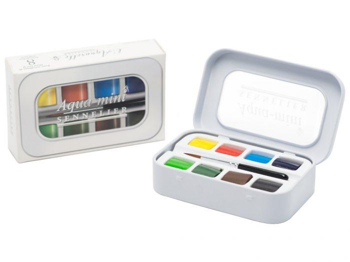Akvarelinių dažų kubelių 1/2 rinkinys Sennelier Aqua-mini - 1/2