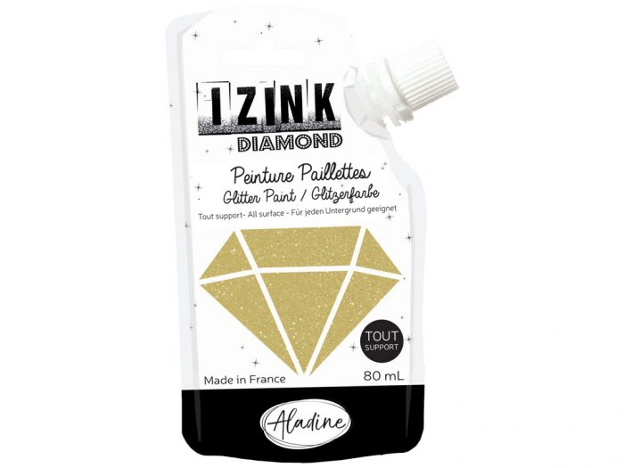 Glitter paint Aladine Izink Diamond 80ml - 1/6