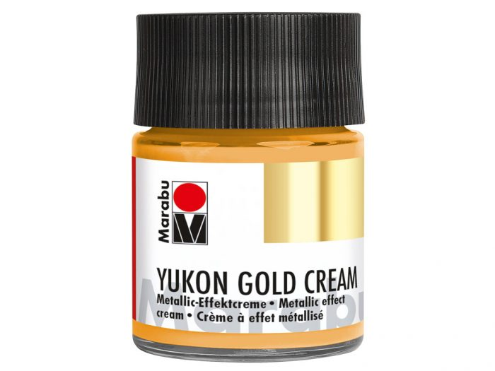 Metallic effect cream Marabu Yukon Gold Cream 50ml - 1/2