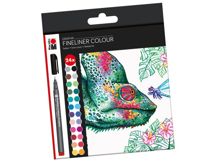 Tintes pildspalva fineliner Marabu Graphix kompleks - 1/2