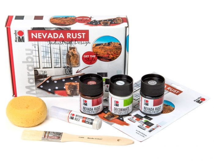 Acrylic rust-effect set Marabu Nevada Rust - 1/6