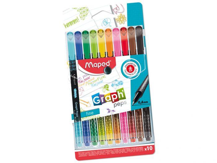 Tintes pildspalva Maped Graph'Peps Deco komplekts - 1/2