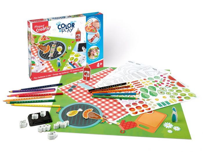 Crafting kit Maped Creativ Color&Play Design my Barbecue - 1/6
