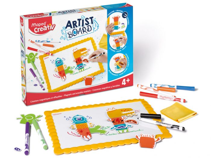 Zīmēšanas komplekts ar magnētisko tāfeli Maped Creativ Artist Board Monsters - 1/3