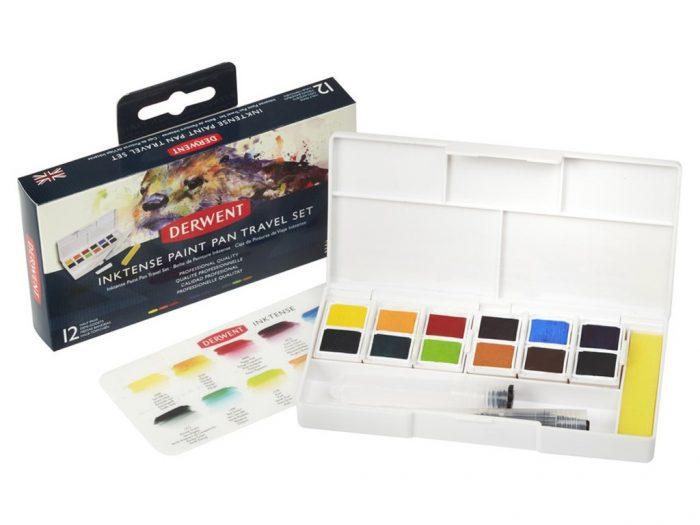 Watercolour half pan set Derwent Inktense - 1/6