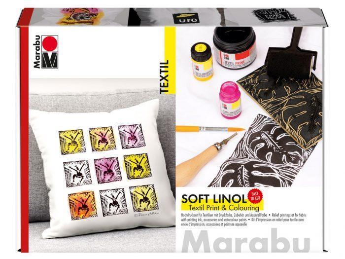 Lino printing set for fabric Marabu - 1/6