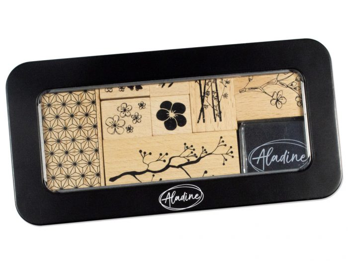 Stamp set Aladine in metal box - 1/4
