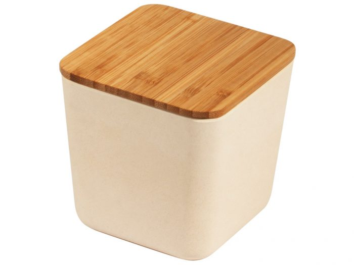 Bamboo storage box Rayher with lid - 1/4