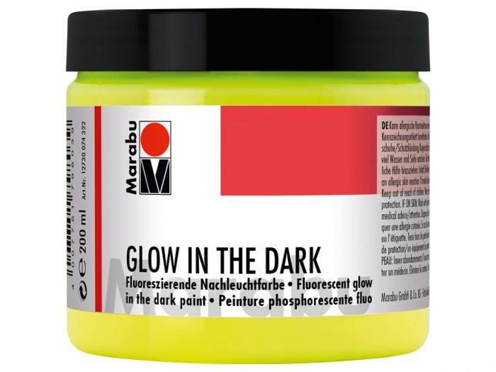 Glow in the dark paint Marabu - 1/6