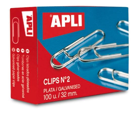 Paper clips Apli 26mm 100pcs galvanised