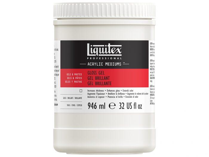 Gloss acrylic gel medium Liquitex