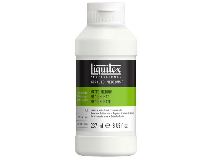 Matte acrylic medium Liquitex