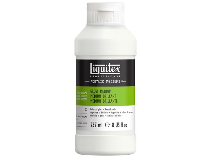 Speciali priemonė-lakas akriliniams dažams Liquitex blizgus