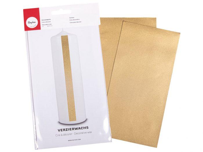 Wax foil for decorations 20x10cm - 1/2