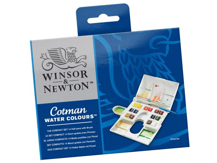 Watercolour half pan set Cotman Compact