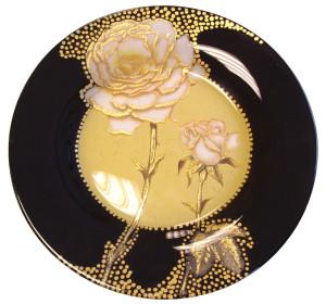 Decoupage- ja kraklee tehnikas taldrik
