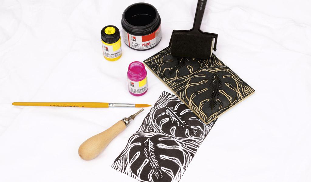 Linooltrükk tekstiilil