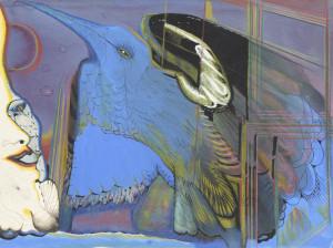 Kompositsioon sinise linnuga (Peeter Ulas)