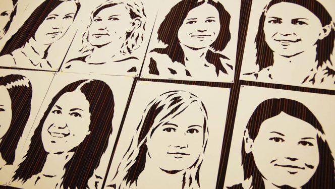 Stencil portreed
